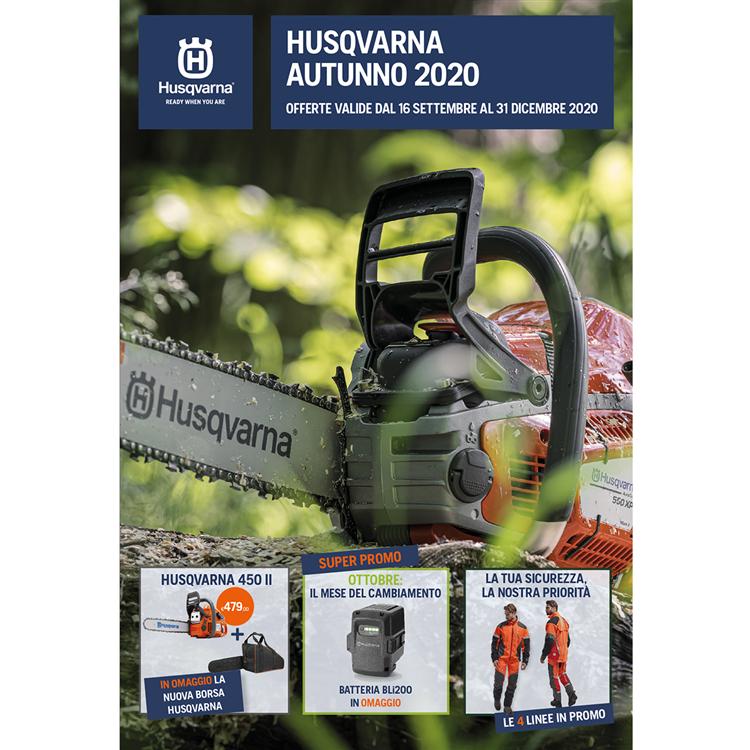Promozioni Husqvarna Autunno 2020